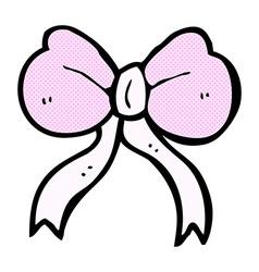 comic cartoon bow tie vector image
