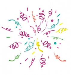 Confetti light background vector