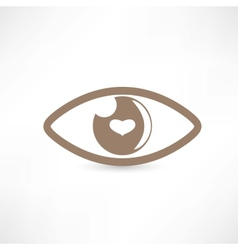 Eye abstract icon vector image