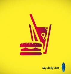 fast food diet vector image