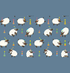 Happy dolly lambs seamless patters vector