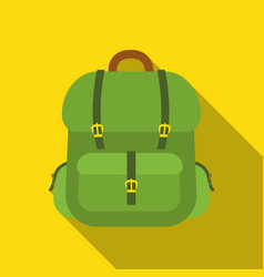 Hunting backpack icon in flat style isolated on vector
