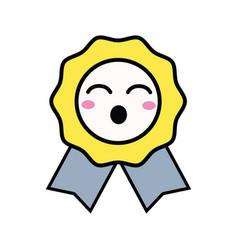 Kawaii cute funny medal prize vector