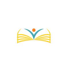open book school logo vector image vector image
