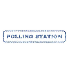 Polling station textile stamp vector