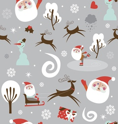 Santa at work seamless print vector