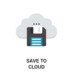 save to cloud vector image vector image