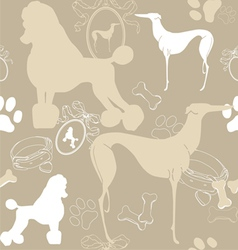 Seamless light background with dogs vector image vector image