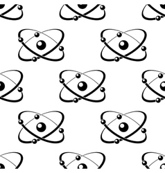 Seamless pattern with atoms around a nucleus vector image