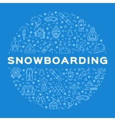 Snowboarding Icon Snowboard Winter vector image vector image