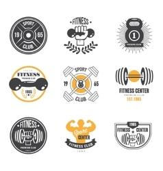 Sport and Fitness Logo Templates Gym Logotypes vector image