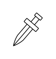 sword icon image vector image vector image