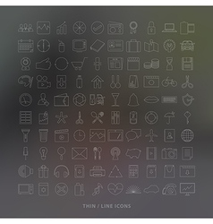 Thin line icons vector image vector image