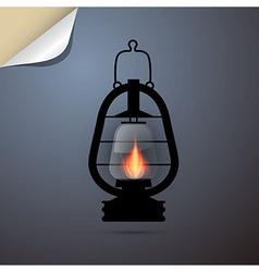 Vintage lantern gas lamp vector