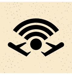 Wifi signal in flight design vector