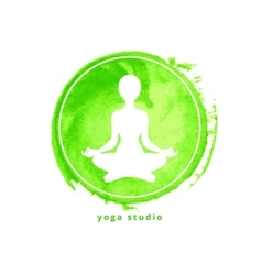 Yoga studio icon vector