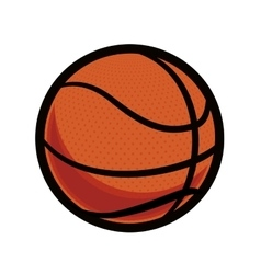 Ball icon Basketball design graphic vector image