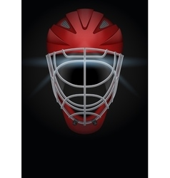 Dark background of hockey helmet vector
