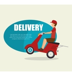 Man delivering boxes design isolated vector