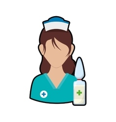 Nurse with uniform medical care design vector