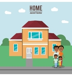 Home house building and family design vector