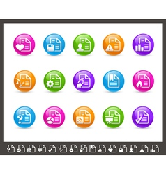 Documents Icons 2 of 2 Rainbow Series vector image