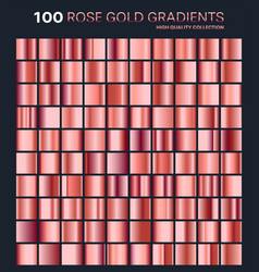 Rose gold gradientpatterntemplateset of colors vector