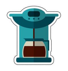 cartoon coffee maker pot machine vector image