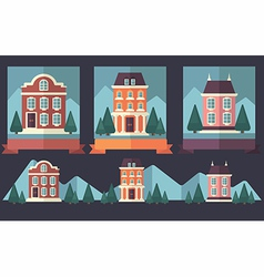little town vector image