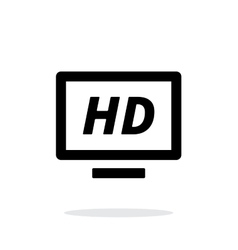 Tv simple icon on white background vector