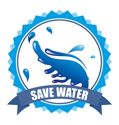 save water vector image