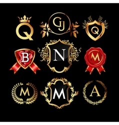 Set of luxury monograms vector