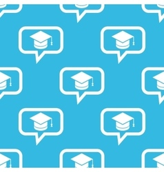 Graduation message pattern vector