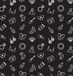 Woman accessories seamless pattern of cosmetics vector