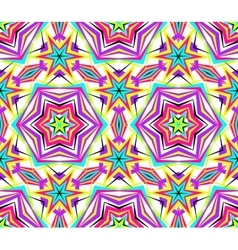 Thin kaleidoscope star flower pattern vector