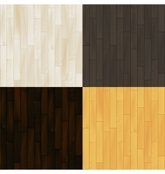Realistic wooden floor parquet seamless patterns vector