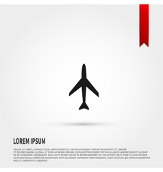 Airplane icon Airplane icon object Template for vector image