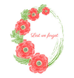 Anzac day of a bright poppy vector