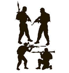 armed rebels vector image