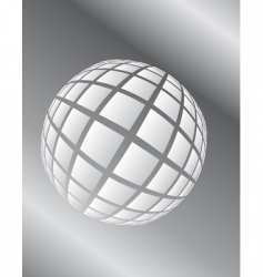 ball in space icon vector image vector image