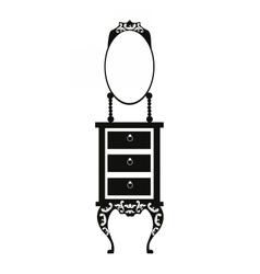 Baroque style dressing table vector image
