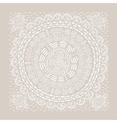 Beautiful ethnic circular ornament vector image