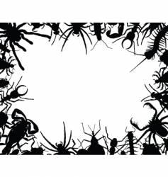 bug frame vector image vector image