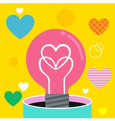 Bulb love vector image vector image