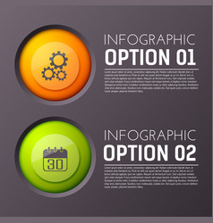 business infographic buttons background vector image