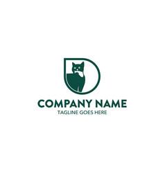 cat logo-20 vector image