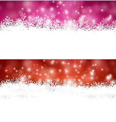 Christmas banners with fallen snowflakes vector