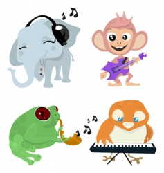 cute animals band vector image vector image