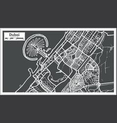 Dubai uae map in retro style vector