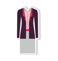 executive woman clothes vector image